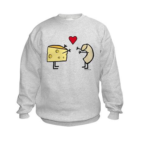 Macaroni and Cheese Love Kids Sweatshirt