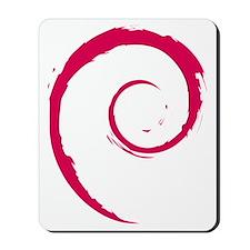 Debian swirl Mousepad