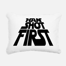 han black Rectangular Canvas Pillow