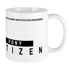 Pony Citizen Barcode, Mug