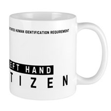 Left Hand Citizen Barcode, Mug