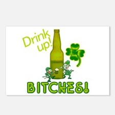 Drink Up Bitches! St. Patricks Day Postcards (Pack