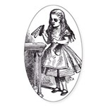 Drink Me Oval Sticker
