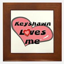 keyshawn loves me  Framed Tile