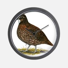 Tennessee Red Quail Wall Clock