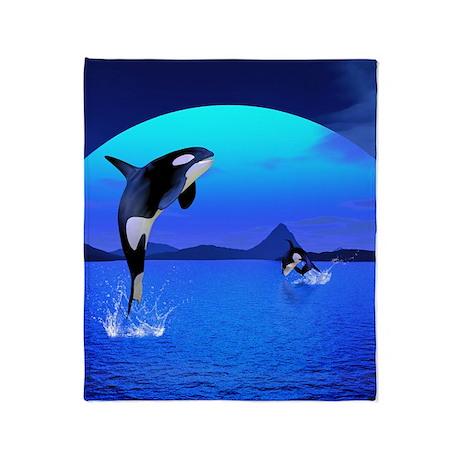 orca_flip_flops Throw Blanket