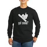 Snowboarding Long Sleeve T-shirts (Dark)