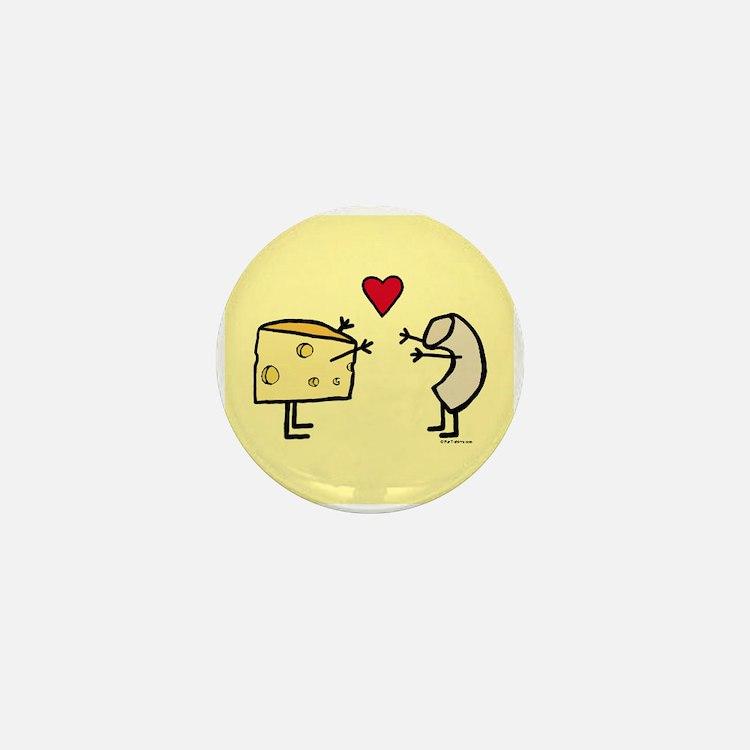 Macaroni and Cheese Love Mini Button