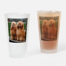 Cute Poodle Drinking Glass