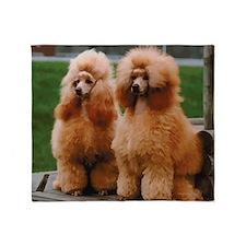 Cute Poodle Throw Blanket