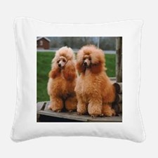Cute Poodle Square Canvas Pillow