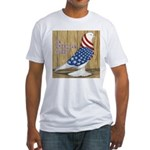 Patriotic Hobby West Fitted T-Shirt