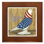 Patriotic Hobby West Framed Tile