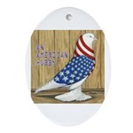 Patriotic Hobby West Oval Ornament