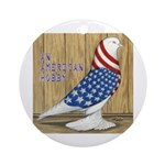 Patriotic Hobby West Ornament (Round)
