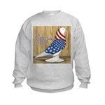 Patriotic Hobby West Kids Sweatshirt