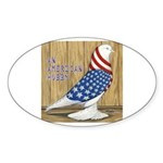Patriotic Hobby West Oval Sticker