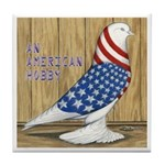 Patriotic Hobby West Tile Coaster