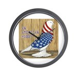 Patriotic Hobby West Wall Clock