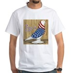 Patriotic Hobby West White T-Shirt