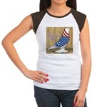Patriotic Hobby West Women's Cap Sleeve T-Shirt