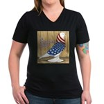 Patriotic Hobby West Women's V-Neck Dark T-Shirt