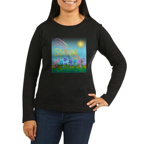 Spring Flowers Women's Long Sleeve Dark T-Shirt