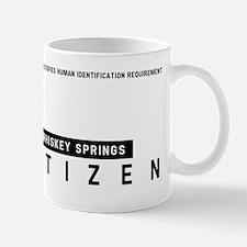 Whiskey Springs Citizen Barcode, Mug