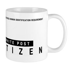 White Post Citizen Barcode, Mug