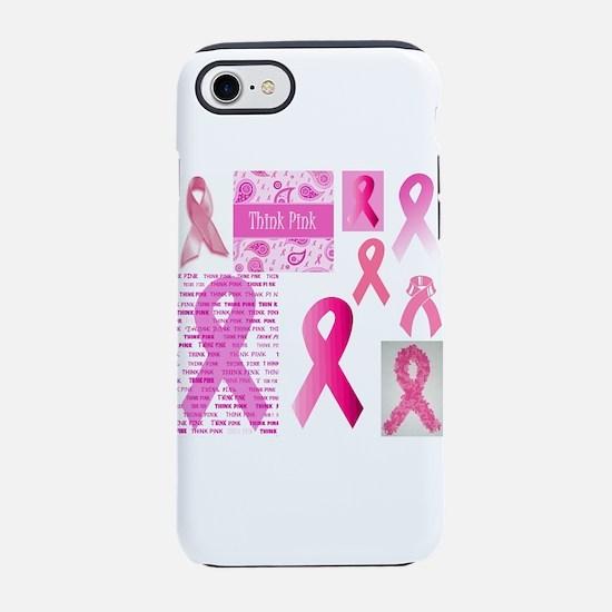 Pink Ribbon Patchwork iPhone 7 Tough Case