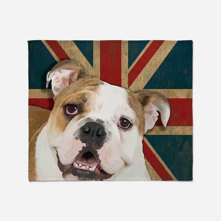 Bulldog Throw Blanket
