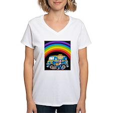 Hippie Girl and Camper Van Shirt