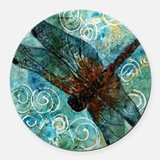 Dragonfly Dreams Round Car Magnet