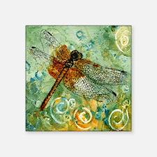 "Dragonfly Away Square Sticker 3"" x 3"""