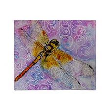 Dragonfly Darner Throw Blanket