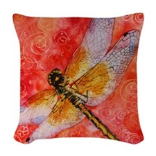 Dragonfly Destinations Woven Throw Pillow