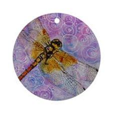 Dragonfly Darner Round Ornament