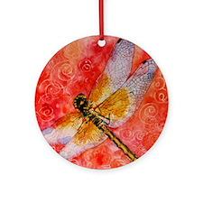 Dragonfly Destinations Round Ornament