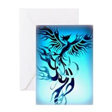 Blue Phoenix 2 Greeting Card