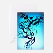 Blue Phoenix 2 Greeting Card