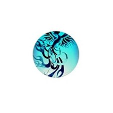 Blue Phoenix 2 Mini Button