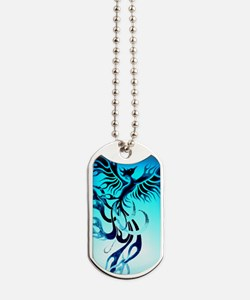 Blue Phoenix 2 Dog Tags