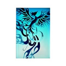 Blue Phoenix 2 Rectangle Magnet