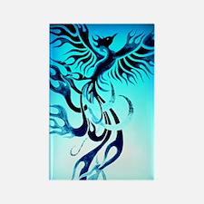 Blue Phoenix 2 Rectangle Magnet
