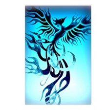 Blue Phoenix 2 Postcards (Package of 8)
