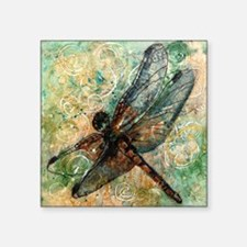 """Dragonfly Dance Square Sticker 3"""" x 3"""""""