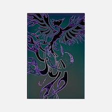 Blue Phoenix Rectangle Magnet