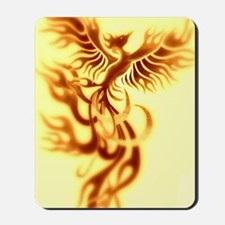 Yellow Phoenix of the old west Mousepad