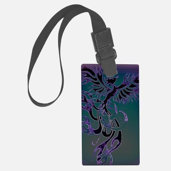 Blue Phoenix Luggage Tag