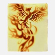 Yellow Phoenix of the old west Throw Blanket